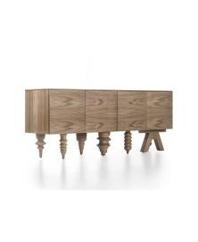 Multileg Cabinet Nogal Barcelona Design img1