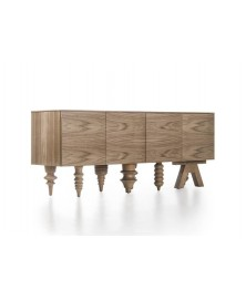 Walnut Multileg Cabinet Barcelona Design img1