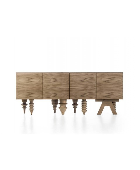 Walnut Multileg Cabinet Barcelona Design img2