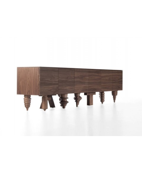 Walnut Multileg Cabinet Barcelona Design img3