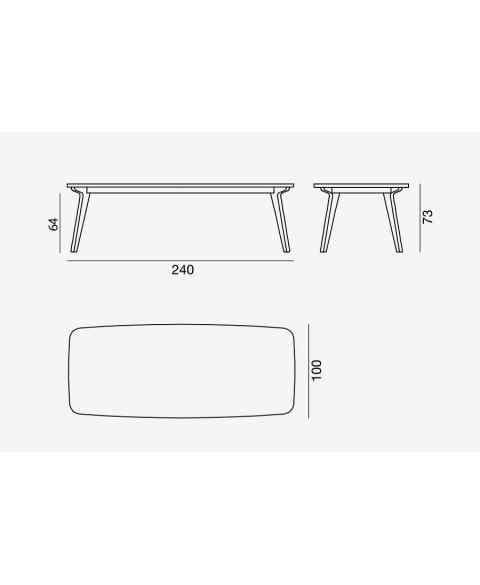 Brick 233 Table Gervasoni img3