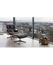Chaise Lounge + Ottoman Charles and Ray Eames Vitra img1